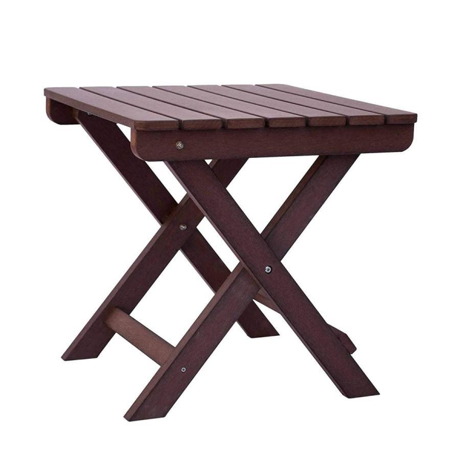 Shine Company 7109CB Folding Side Table, Chateau 褐色