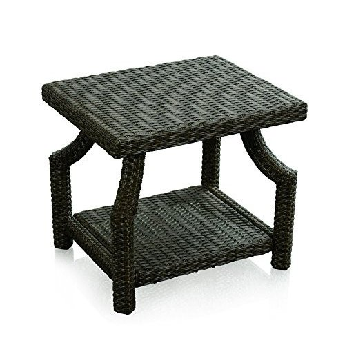 Dola Outdoor All Weather Garden Square Wicker Side Table - Tempe赤 Ga