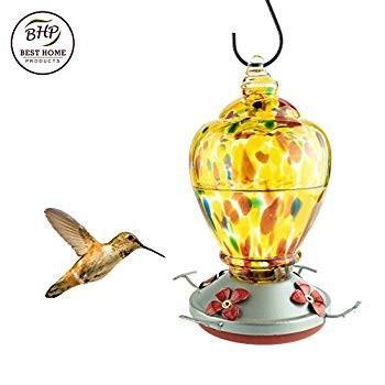 バーゲンで Best Home Glass Products Hummingbird Feeder with Perch - Perch Hand-Blown Home Glass Fe, BEBE SHOP:6f0a621a --- sonpurmela.online