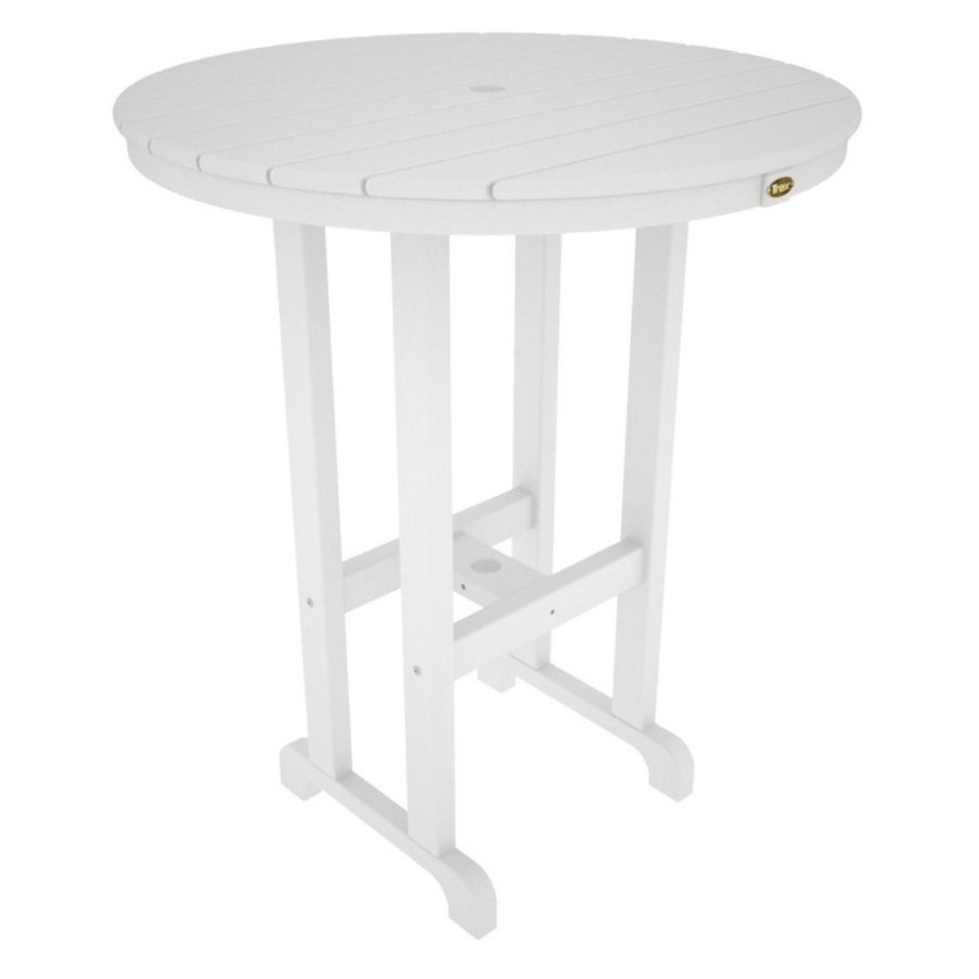 Trex Outdoor Monterey Bay Bay Round Bar Table Color: Classic 白い, Table