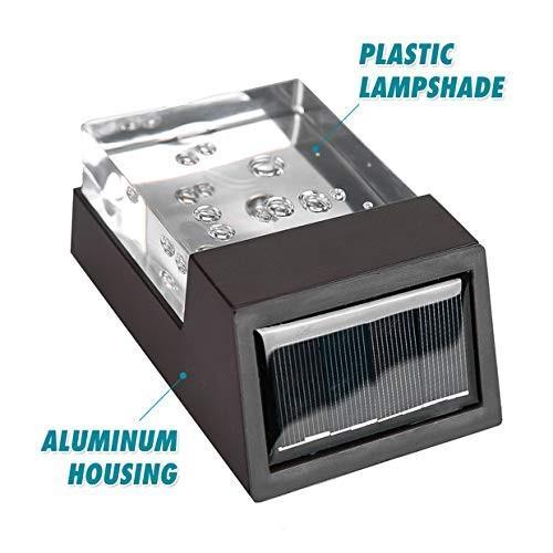 HECARIM Led Solar Lights Outdoor, Easy Install Wall Lights Cast-Alumin