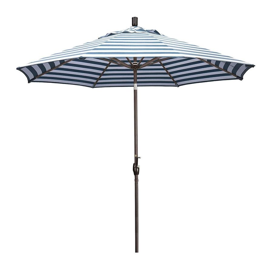 Ben&Jonah Eclipse Collection 9' Aluminum Market Umbrella Push Tilt - B