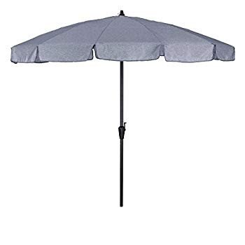 Umbrella. Centralia Large Outdoor Adjustable Parasol W/Cantilever Base