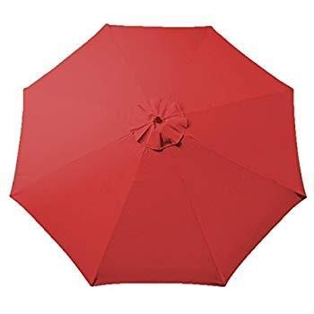 赤 9ft Outdoor Patio Umbrella Replacement Top Canopy