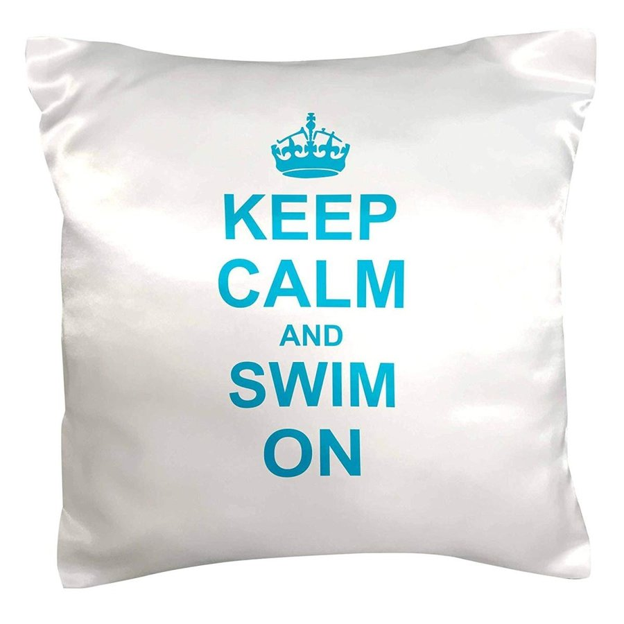 3dRose pc_157777_1 Keep Calm and Swim on Carry on Swimming Hobx Or Pro