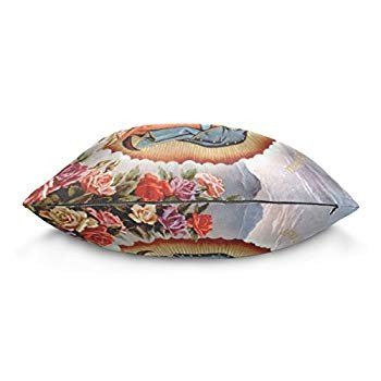 Donnnaピンク Throw Pillow Case Virgin Mary Our Lady of Guadalupe Mother