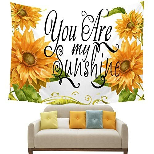 NIDITW Summer Holiday Decor Sunshine 黄 Sunflower You are My Sunsh