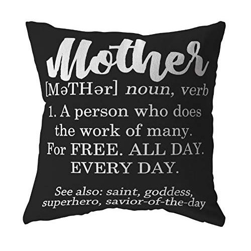 Tessa Mae Mae Mae Designs Funny Pillow Cover Definition of a Mother for Women, 060