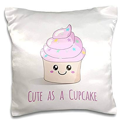 3dRose pc_151411_1 Cute as A Cupcake-Happy Kawaii Fairy Cake with ピンク