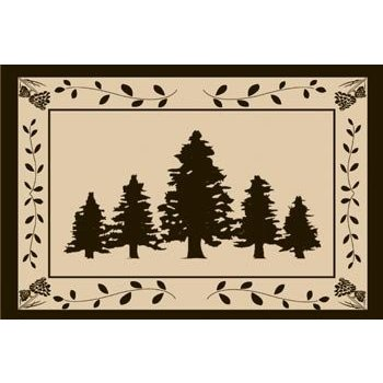 Outdoor Ground Mat for Picnics, RV, Beach, Camping (9x12 Feet), Trees