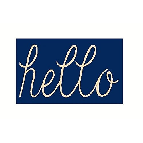 KAROLA Hello Bathroom Rugs Entry Way Indoor Door Mat with Non Slip Bac