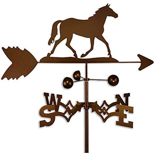 Copper Colo赤 Metal Horse Weathervane Farm Compass Decor Weather Vane