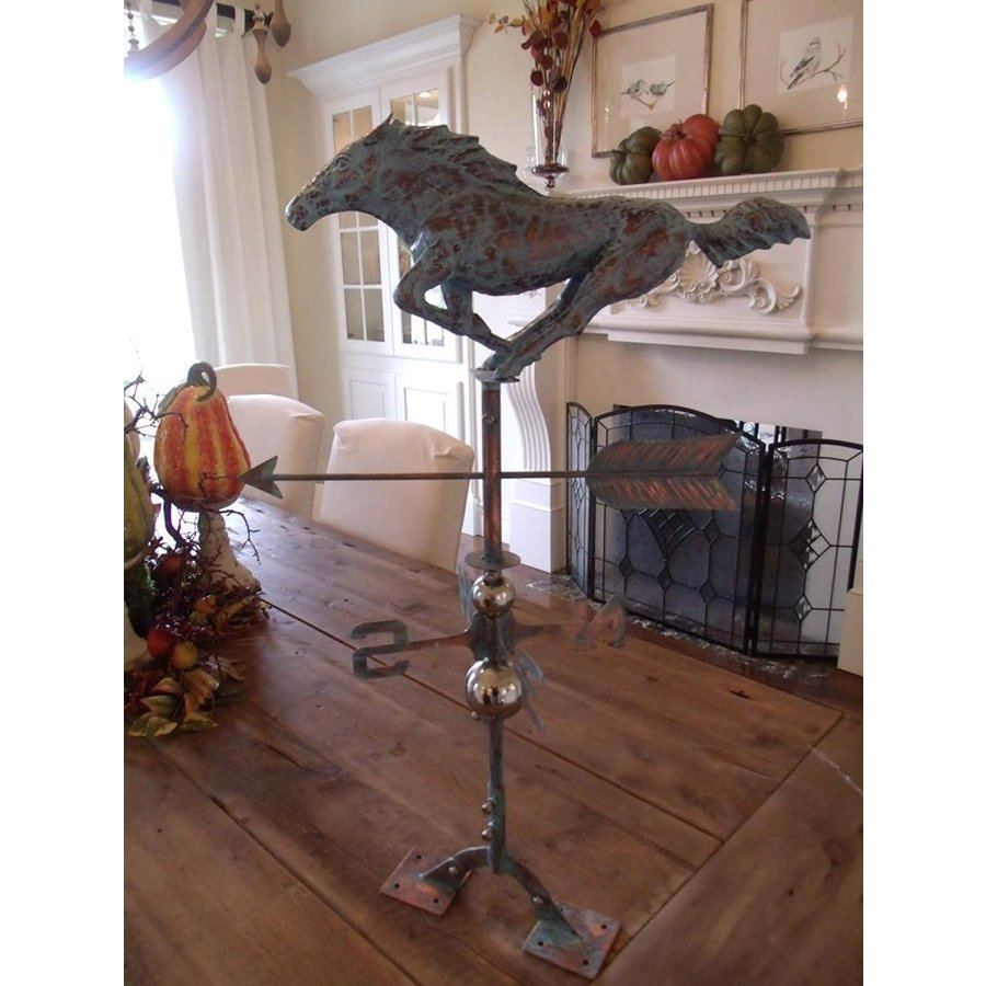 Furniture Barn USA Beautiful Handcrafted 3D 3- Dimensional Racing Hors