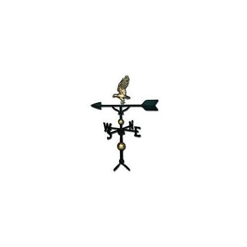 Montague Metal Products 32-Inch Deluxe Weathervane with ゴールド Eagle Orn