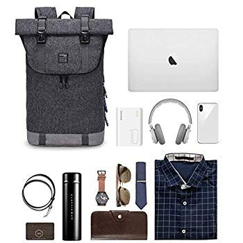 EverVanz Laptop Backpack Women & Men Roll Top Water Resistant Travel H
