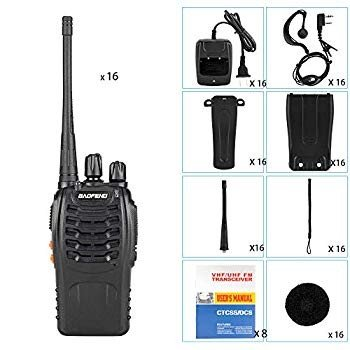 BaoFeng BF-888S Handheld Walkie Talkies 黒 with 1 PC USB Program Ca
