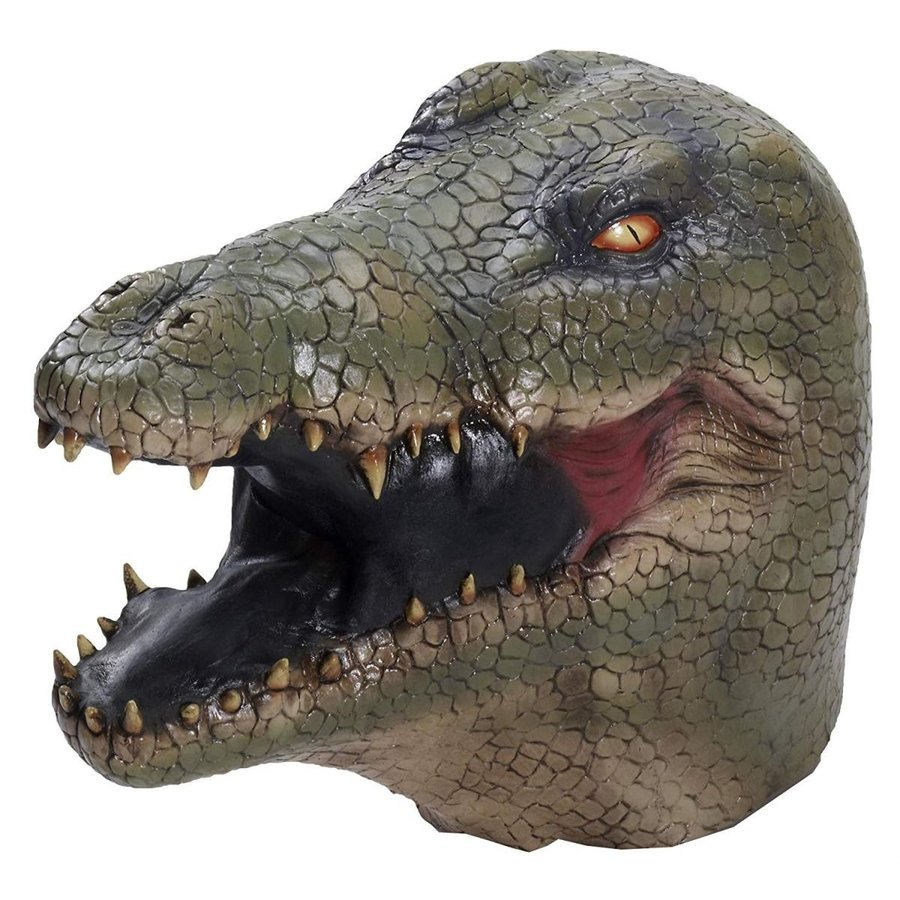 Forum Novelties Men's Alligator Latex Mask, Multi Colo赤, One Size