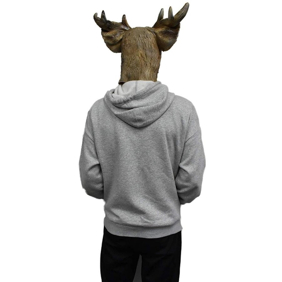 Reindeer Mask Deer Animal Head Face Disguise Halloween Costume for Adu