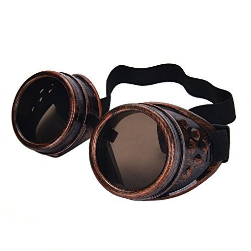 Warmtree toy 2 Pair Steampunk Goggles Vintage Glasses for Cosplay, Cop