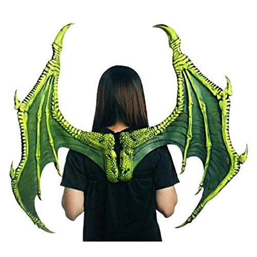 HMS Medieval Legend Adult Costume Ultimate Dragon Wings 緑