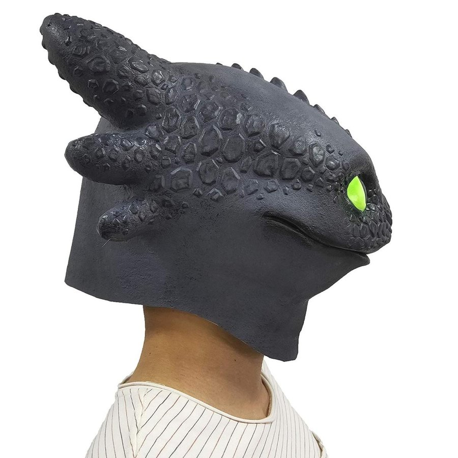 BBBL How to Train Your Dragon Mask Toys Latex Face Mask Cosplay Costum