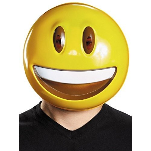 Disguise Men's Smile Mask Costume Accessory, 黄, One Size