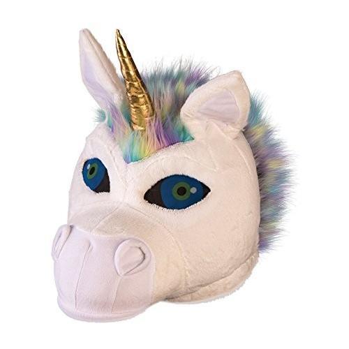 Fluffy Unicorn Mascot Mask