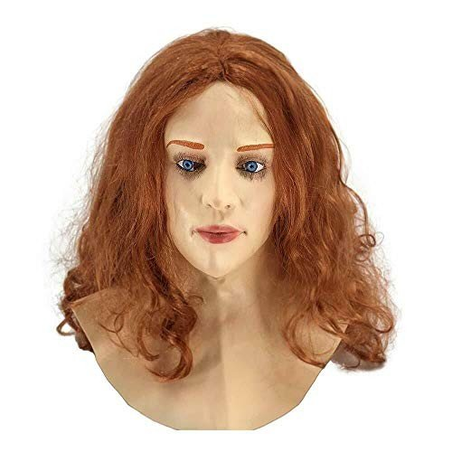 Realistic Female Latex Mask Party Cosplay Carnival Woman Face Costume