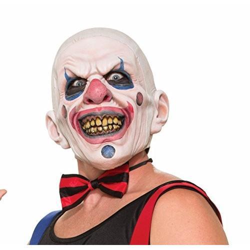 Forum Novelties Men's Twisted Clown Latex Mask, Multi, One Size
