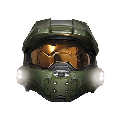 Boy's Halo Game Master Chief Lightup Mask Child Halloween Costume Acce