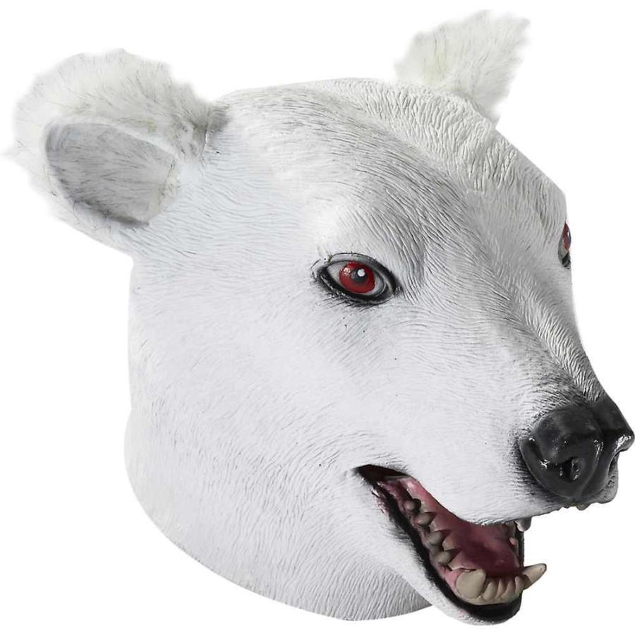 Forum Novelties 69496 Unisex-Adults Mask-Dlx Latex Polar Bear, 白い,
