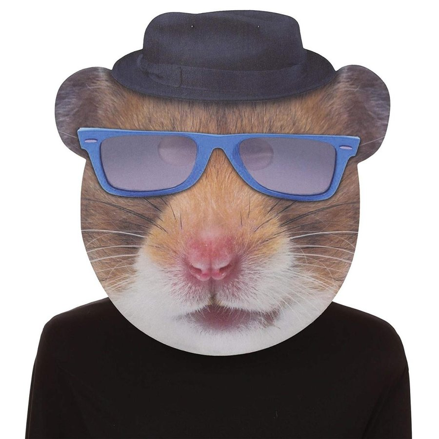 UHC Hip Hop Hamster 青 Glasses Comical Theme Party Halloween Costume
