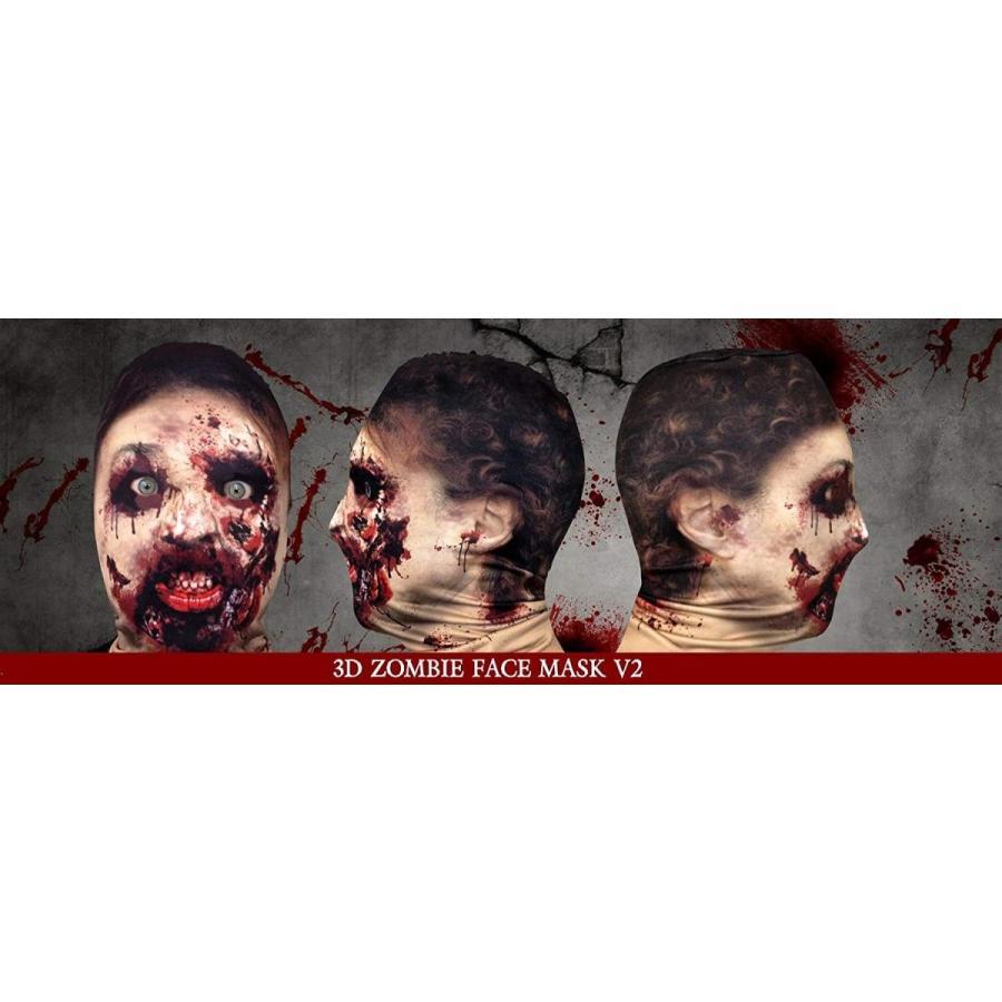 FACE SKINZ - 3D EFFECT ZOMBIE FACE V2 Lycra Face Mask