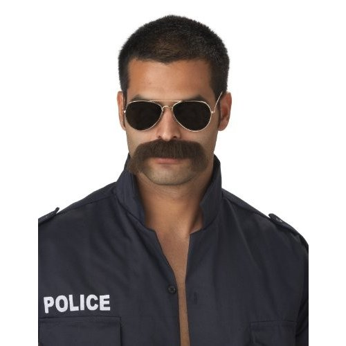 California Costumes The Man Police Moustache