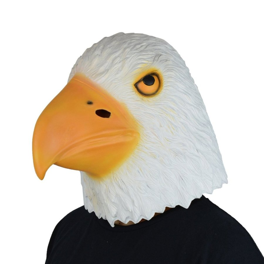 LarpGears Halloween Costume Latex Eagle Mask Funny Animal Mask for Par