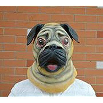 Miyaya@ Special New Latex Full Head Overhead Animal Cute Bulldog Mask