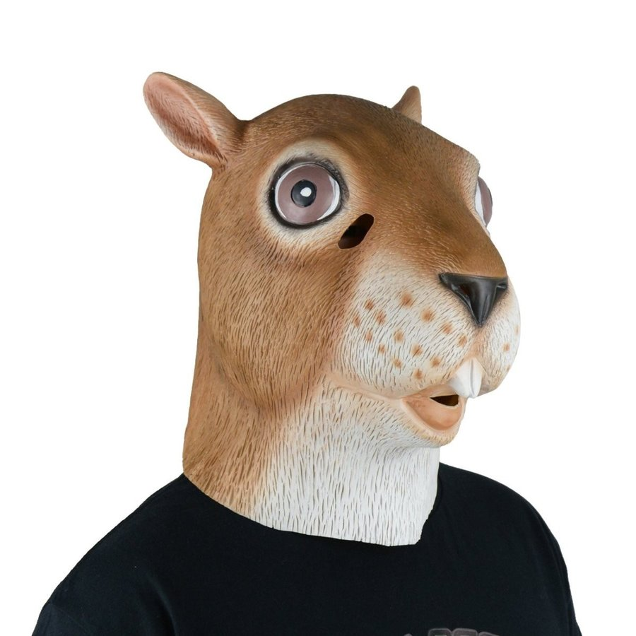 LarpGears Latex Squirrel Mask Full Head Animal Mask