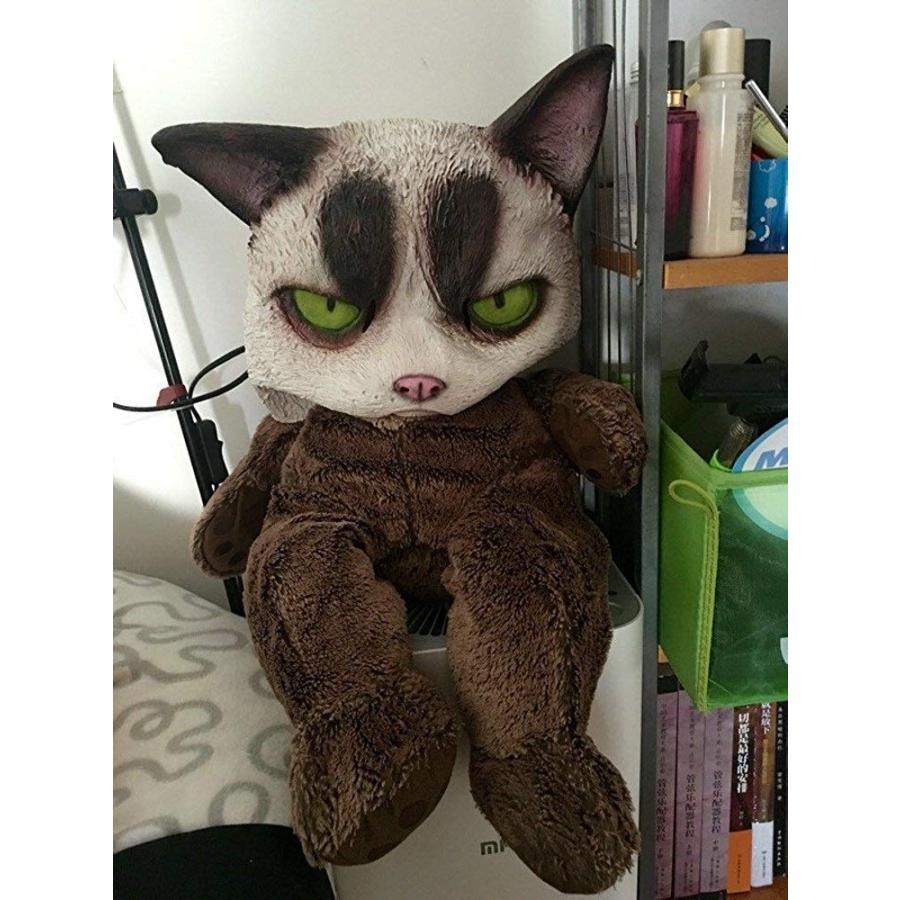 molezu Grumpy Cat Mask, Cat Halloween Mask, Novelty Costume Party Late