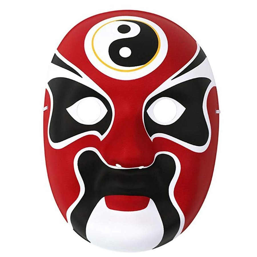 HorBous (3 Pack Chinese Peking Opera Mask, Party Mask, Halloween Mask,