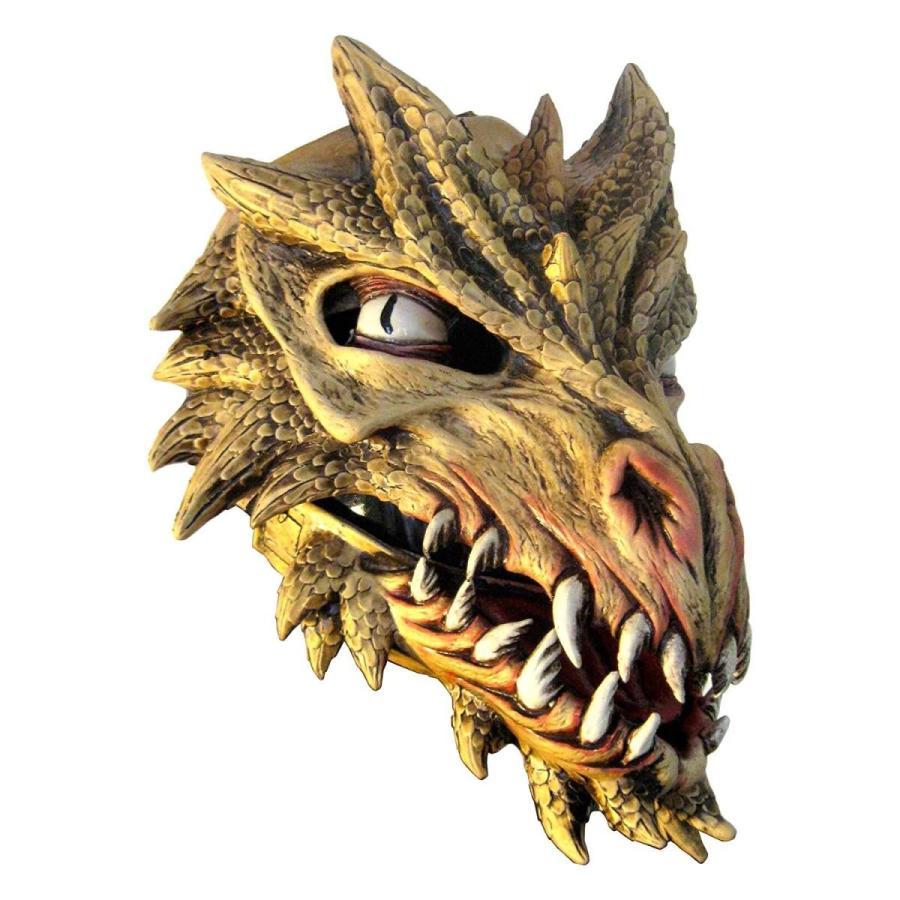 ゴールドen ゴールド Dragon Adult Latex Mask