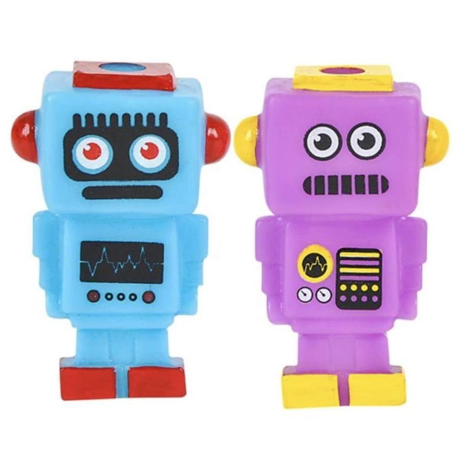 Rubber Robot Figures- Robot Party Favors- Set of 12