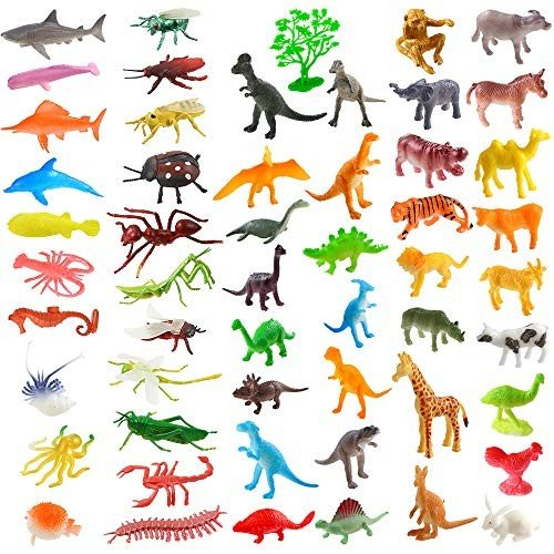 Auihiay 83 Pieces Plastic Animals Figure Set for Toddlers Educational