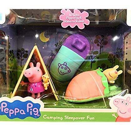 Peppa Pig Camping Sleepover Fun