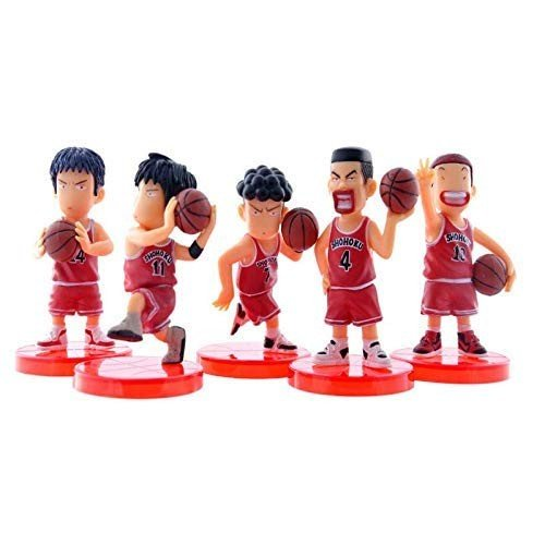Boenxin Set of 5 SLAM Dunk Action Figure Toys - Sakuragi Rukawa Mini F