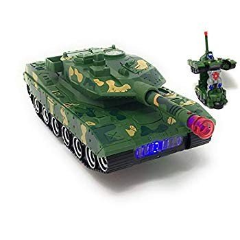 Kidsthrill Combat Army Tank Vehicle Deformation Robot Toy Action Figur