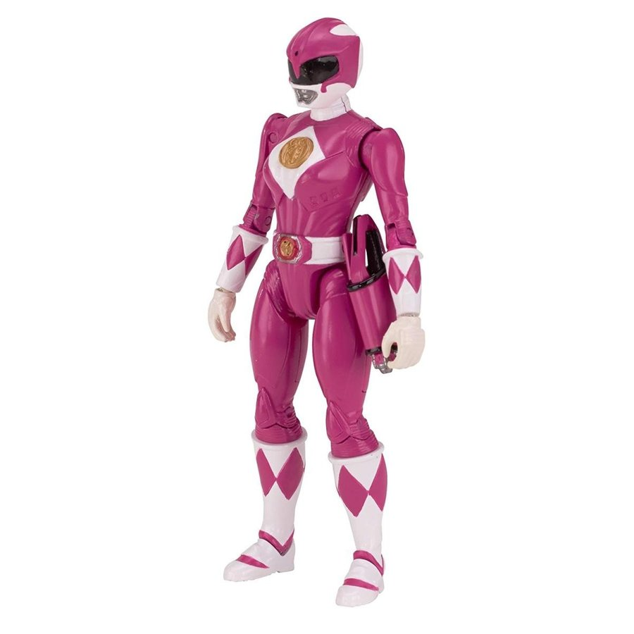 Power Rangers Legacy Mighty Morphin Movie 5-Inch ピンク Ranger Action Fi