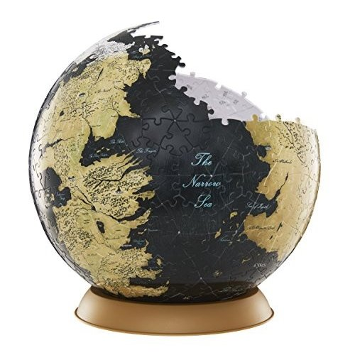 4D Cityscape Game of Thrones (GoT) 3D Westeros and Essos Globe Puzzle,