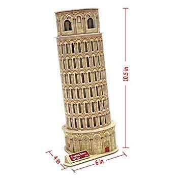 Creative 3D Puzzle Paper Model Leaning Tower of Pisa DIY Fun & Educati