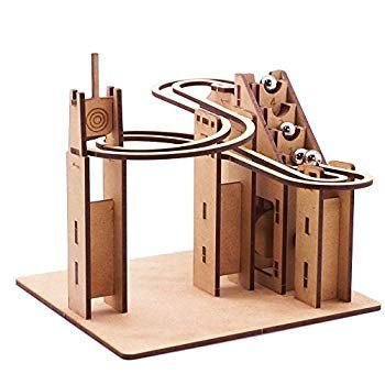 Mize Marble Run Automata Assembly Model Kits Wooden 3D Puzzles (Motor
