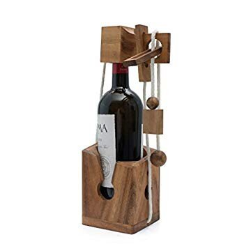 SiamMandalay Wine Challenge: Wine Bottle Puzzle Gift for Parties - Bot